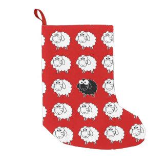 Ovejas negras calcetín de navidad pequeño