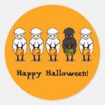 Ovejas negras de Halloween Pegatina Redonda