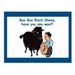 Ovejas negras del Baa del Baa Tarjetas Postales
