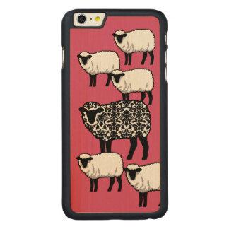 Ovejas negras del damasco funda de arce carved® para iPhone 6 plus slim