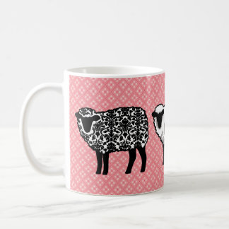 Ovejas negras del damasco taza de café