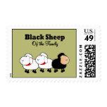 Ovejas negras divertidas de la familia sello