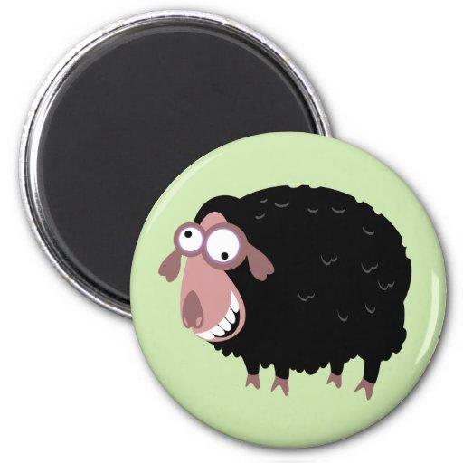Ovejas negras divertidas imán de nevera