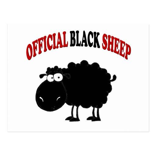 Ovejas negras divertidas postales