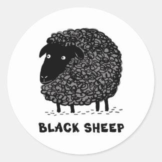 Ovejas negras etiqueta redonda