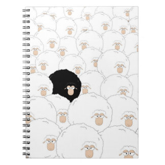 Ovejas negras libro de apuntes con espiral