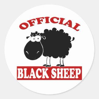 Ovejas negras etiquetas redondas