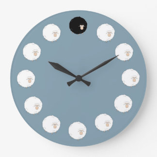 Ovejas negras reloj redondo grande