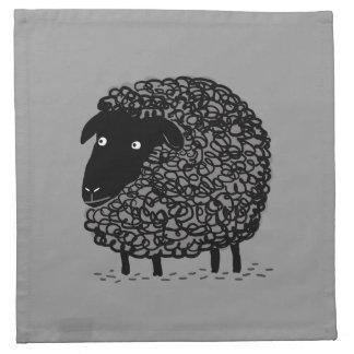 Ovejas negras servilleta imprimida