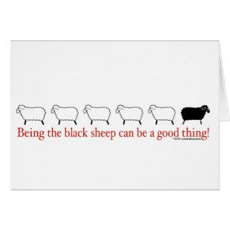 Ovejas negras tarjeta de felicitación