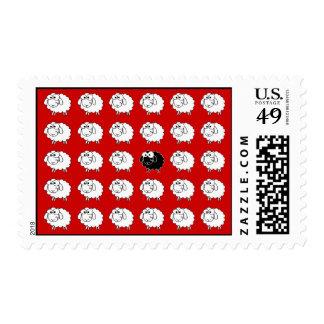 Ovejas negras timbre postal