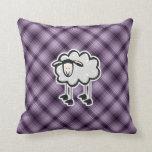 Ovejas púrpuras almohadas