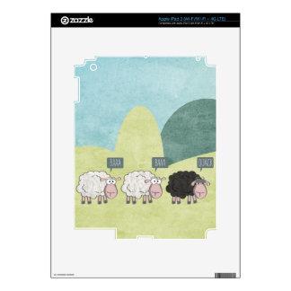 Ovejas rebeldes iPad 3 pegatinas skins