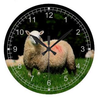 Ovejas Reloj Redondo Grande