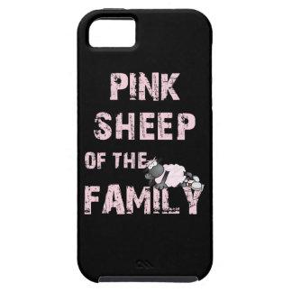 Ovejas rosadas de la familia iPhone 5 protector