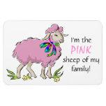 Ovejas rosadas de la familia imán