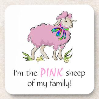 Ovejas rosadas de la familia posavasos