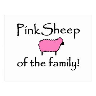 Ovejas rosadas de la familia postal