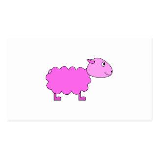 Ovejas rosadas tarjetas de visita