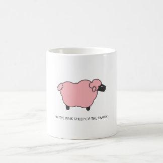 Ovejas rosadas taza de café