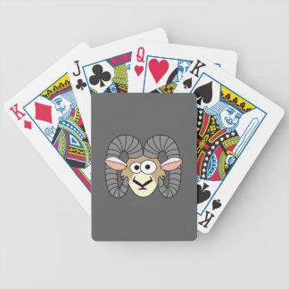 Ovejas torpes lindas del espolón barajas de cartas