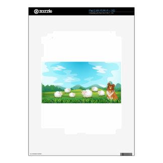 Ovejas y perro skins para iPad 2