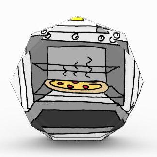 Oven baked pizza acrylic award