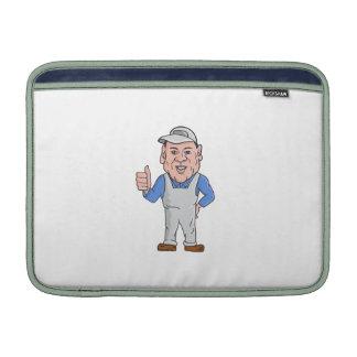 Oven Cleaner Technician Thumbs Up Cartoon MacBook Air Sleeve