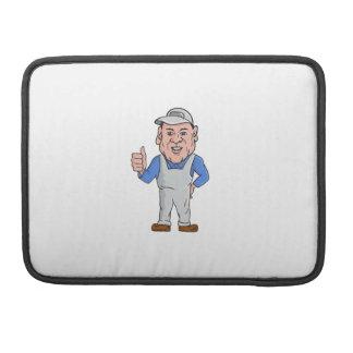 Oven Cleaner Technician Thumbs Up Cartoon Sleeve For MacBook Pro