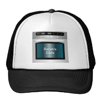 Oven graphic with personalized text trucker hat