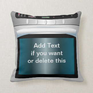 Oven graphic with personalized text pillow