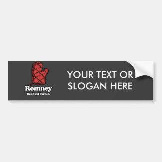 Oven Mitt Romney - Get Burned.png Bumper Stickers