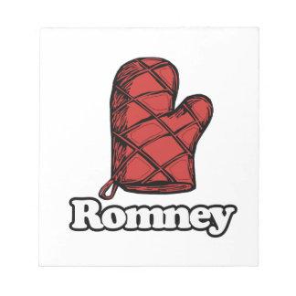 Oven Mitt Romney Memo Notepads
