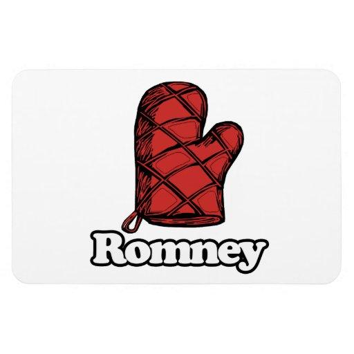 Oven Mitt Romney Rectangular Magnets