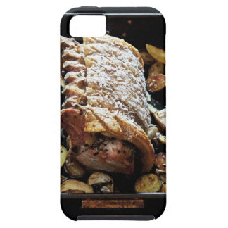 Oven Roaste zpork Loin with crackling, potatoes iPhone 5 Cover