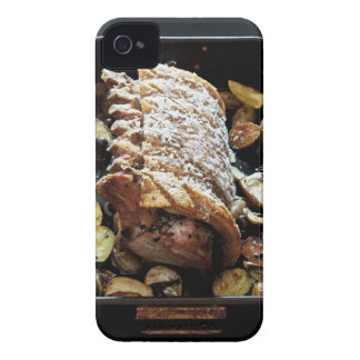 Oven Roaste zpork Loin with crackling, potatoes Case-Mate iPhone 4 Case