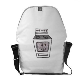 Oven Smiley Face Cartoon Messenger Bag