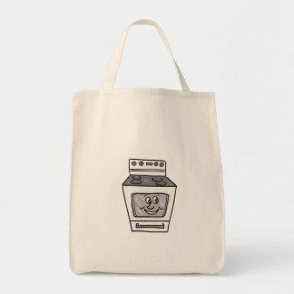 Oven Smiley Face Cartoon Tote Bag