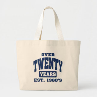 Over 20th Birthday Tote Bags