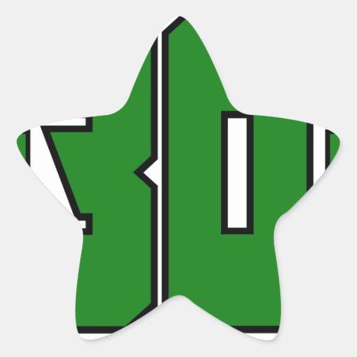 Over 30 Clan Logo (Xbox Green) Star Sticker | Zazzle