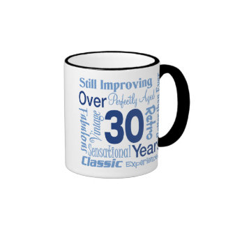 Over 30 Years 30th Birthday Ringer Mug