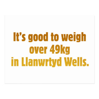 Over 49kg in Llanwrtyd Wells Postcard