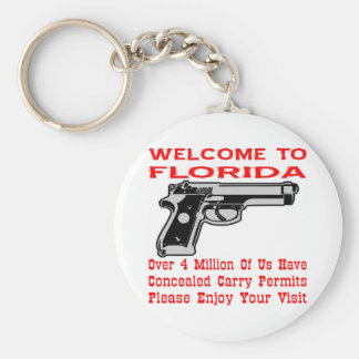 Over 4 Million Of Us Have Concealed Carry Permits Basic Round Button Keychain