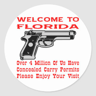 Over 4 Million Of Us Have Concealed Carry Permits Classic Round Sticker