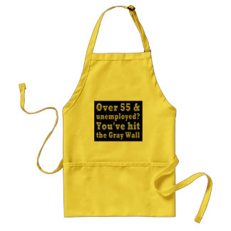 Over 55 Gray Wall Adult Apron
