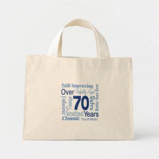 Over 70 Years 70th Birthday Mini Tote Bag