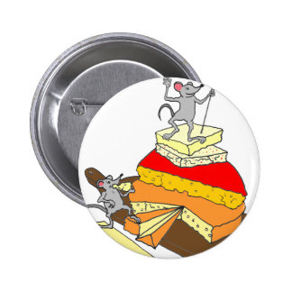 Over-Achiever Cheese Lover Pinback Button