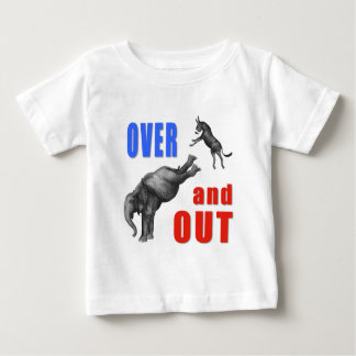 OVER AND OUT Political Illustration Baby T-Shirt