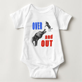 OVER AND OUT Political Illustration Tee Shirt