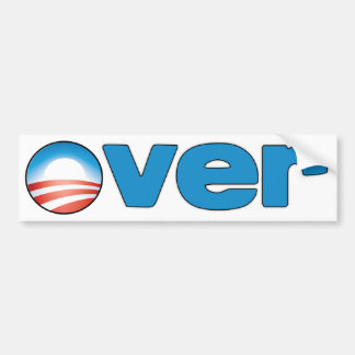 OVER - ANTI OBAMA STICKER